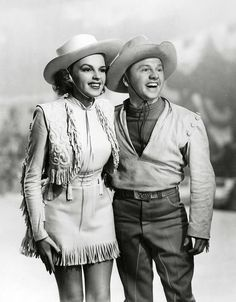 Judy Garland and Mickey Rooney.  A George Vreeland Hill Pinterest post.