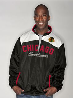 Chicago Blackhawks Vintage Polyester Track Jacket by G-III