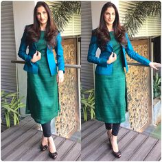 How to Make a Ethnic Dress Modern ? Salwar Designs, Kurta Designs Women, Kurti Designs Party Wear, Kurti Neck Designs, Latest Kurti Designs, Indian Designer Suits, Dress Indian Style, Indian Dresses, Designs For Dresses