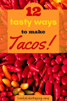 12 Tasty New Ways to Make Tacos- Perfect for Taco Tuesday! Taco Recipes Everyone loves tacos! You can't go wrong planning a taco night for dinner- they are always a hit. These 12 recipes are new, fresh & different. A Food, Good Food, Food And Drink, 12 Recipe, New Recipes, Delicious Recipes, Favorite Recipes, Dinner Is Served, Group Meals