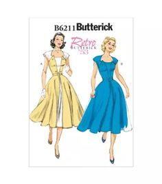 Sewing Retro Patterns Butterick Misses Dress - - Vintage Dress Patterns, Vintage Dresses, Nice Dresses, Vintage Outfits, Vintage Fashion, Barbie Patterns, 50s Dresses, Diy Fashion, Remake Clothes