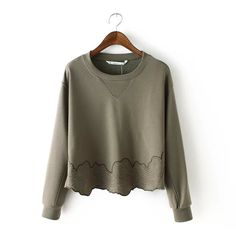 Find More Hoodies & Sweatshirts Information about Spring 2016 New Casual Women Hem Embroidery Floral Hoodies Pullover for Women Quality Round Collar 2 Colors Long Sleeve Tops ,High Quality pullover jackets for women,China hoodie coat Suppliers, Cheap pullover fashion from Online Store 345976 on Aliexpress.com