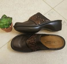 de9ed12e6f3 NAOT Metallic Bronze Slip On Clogs Sz 37  fashion  clothing  shoes   accessories