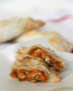 Sweet potato, goats cheese and sage hand pies