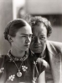 Frida Kahlo and Diego Rivera, Mexico 1933 -by Martin Munkcsi