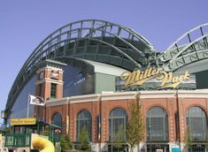 Miller Park, Milwaukee, WI Home of the Brew Crew Milwaukee City, Milwaukee Wisconsin, Milwaukee Brewers, Visit Milwaukee, Baseball Park, Baseball Stuff, Baseball Season, Places Ive Been, Places To Go