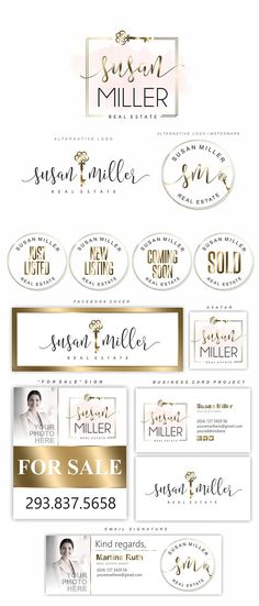 Realtor logo set, Gold Key logo, Realtor logo, Premade Branding Kit, Real Estate kit, Realty logo, Business card, Broker Logo, Realty set202