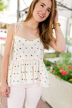 Polka Dot Peplum Top | summer fashion | summer style | how to style a peplum top | fashion for summer | style ideas for summer | warm weather fashion | fashion tips for summer || a lonestar state of southern