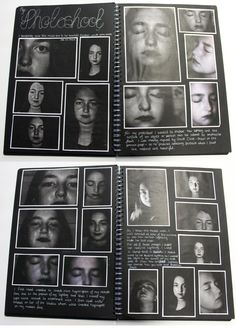 A2 Photography, A3 Black Sketchbook, Photoshoot, Theme 'Flaws, Perfections, Ideals and Compromises', Thomas Rotherham College, 2015-16