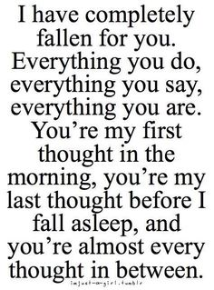 .This has happened to me. But I dont know if im that way for him.... like if he does thi about me