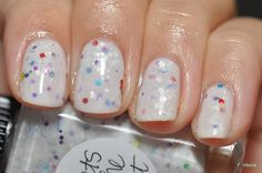 Lynnderella Sweets to the Sweet (from the brand-new Lovely is as Lovely Does collex) over Essie Marshmallow