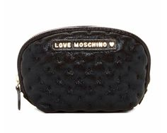dceb8c3054c8 Love Moschino Black New Busta Metallic Embroidered Cosmetic Bag 50% off  retail