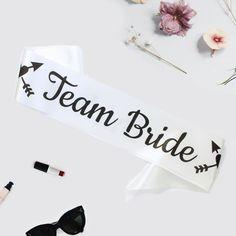 #weddingribbon #sashes #hennight #teambride Bride To Be Sash, Hens Night, Team Bride, Ribbon, Wedding Inspiration, Place Card Holders, Tape, Treadmills, Band
