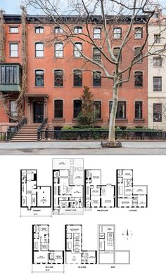 Townhouse Floor Plan Discover West Street is a sale unit in Greenwich Village Manhattan priced at . Dream House Plans, Modern House Plans, House Floor Plans, Home Building Design, Home Design Plans, Mansion Plans, Townhouse Apartments, Architectural Floor Plans, Sims House Design