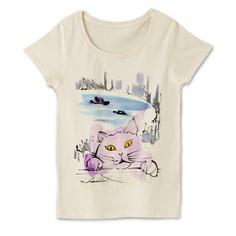 がんばれ、ネコ | デザインTシャツ通販 T-SHIRTS TRINITY ¥3,480