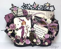 Cards and More Cards - The Witching Hour Pion papers with many items available at Noor! Design UK