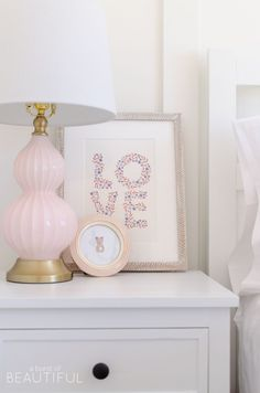 Sweet Pink and White Little Girl's Bedroom   Toddler Bedroom Reveal - A Burst of Beautiful