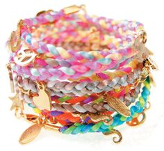 bracelets | remember those friendship bracelets you used to weave together and ...