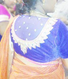 Designer velvet net blouse @ krishna coutures  https://www.facebook.com/pages/Krishnas-Coutures/1614114748803719