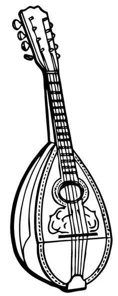 stringed instruments in detailed vector silhouette  idea