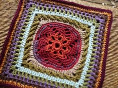 Ravelry: Schoharie Spring Square. FREE crochet square pattern on Ravelry.