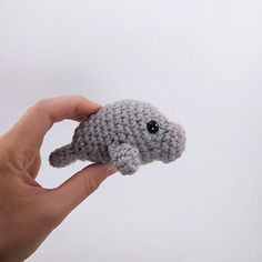 Create your own mini manatee in no time at all! I'm so excited to offer this simple, adorable pattern for FREE, and hope you enjoy it! Thanks!