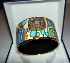 Authentic FREY WILLE Hommage à Hundertwasser Méditerranée Diva Bangle LARGE | eBay