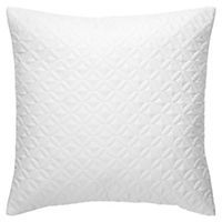 by Sainsbury's Boho White Quilted Cushion
