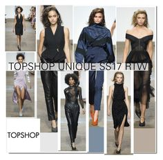 """""""LFW ' 16 : Topshop Unique Collection SS 17..."""" by nfabjoy ❤ liked on Polyvore featuring Topshop, LFW, runway, fashionWeek and londonfashionweek"""