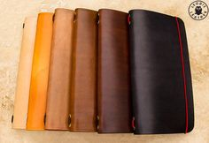 Leather Midori Traveller's Notebook Cover, Made to Order on Etsy, £35.00.   More color choices and resource...