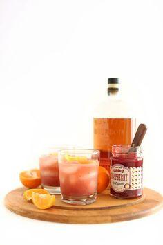 raspberry winter bourbon smash | minimalist baker