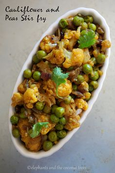 Cauliflower and Peas Stir fry #Sensationalsides #Foodnetwork  #vegan