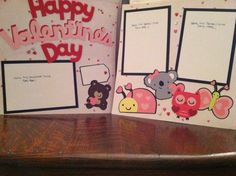 Happy Valentine's Day with Animals Pre Made by aSavvyScrapbooker, $12.00