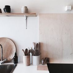 @ledansla's soft, warm kitchen in her new home in France. Next Wednesday I'll be sharing a new feature in the series! #ammguestseries #ledansla