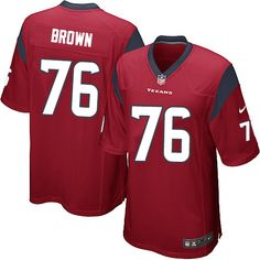 Nike Limited Duane Brown Red Youth Jersey - Houston Texans #76 NFL Alternate