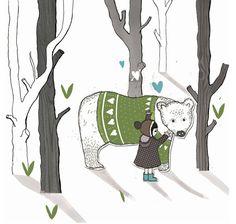 Cathryn Weatherhead | Portfolio | Illustration - Polar Bear Cuddle