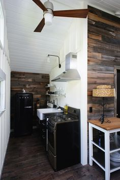 Sarah's Neutral Salvaged Wood Kitchen — Small Cool Kitchens 2013