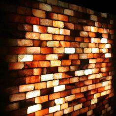 Rock salt wall