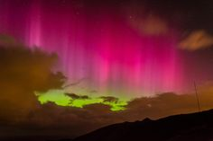 """#Aurora off Otago Peninsula - display too large to get in my wide angle lens @Dunedin"""