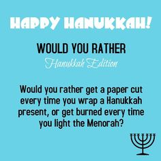 Happy Hanukkah! Play along with us!