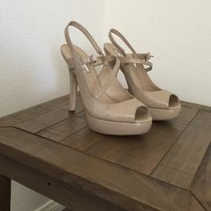 Heels Nude platform heels in great condition Shoes Heels