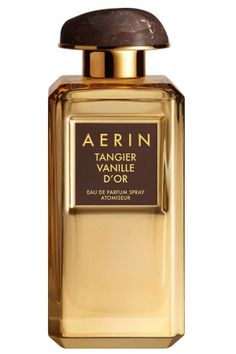 Tangier Vanille D`Or Aerin Lauder for women 2017.  Top notes are bergamot, plum and bulgarian rose; middle notes are madagascar vanilla, saffron and myrhh; base notes are cashmere wood, crystal amber, tonka bean and sandalwood.
