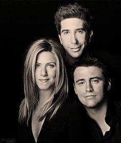Rachel, Ross, & Joey
