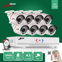 255.81$  Buy now - http://ali2r0.shopchina.info/go.php?t=32755288708 - ANRAN 8CH hybrid 1800N HD AHD DVR 1800TVL 720P Waterproof Outdoor 24 IR Day Night Home CCTV Security Camera System With 1TB HDD  #aliexpressideas