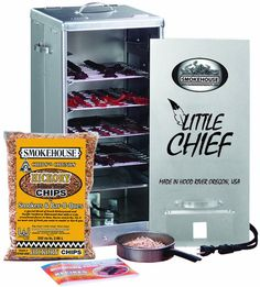 Review Little Chief Front Load Smoker (Smokehouse Products) - The Little Chief Front Load Smoker (Smokehouse Products) has a medium size with four grills. It operates with 250 watts. It is designed perfectly for any type of game meat, poultry, fish, beef and pork. It is made of aluminum and it has been a great item for many years now. It has the following...