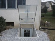 Wonderful Cleargress Basement Door, Polycarbonate Bilco Doors, Transparent Bilco Doors,  Clear Cellar Doors   How Cleaver To Have A U0027window To Cover The Well.