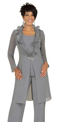 Misty Lane 13538 Womens Formal Evening Duster Jacket Pant Suit sizes