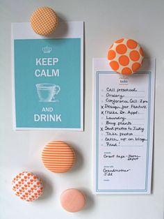 Make Cute Button Magnets