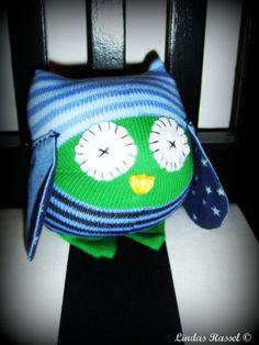 Kramdjur uggla av strumpa Make a owl of a sock