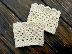 crochet boot cuffs | ... Bliss Squared: Lacy Scalloped Crochet Boot Cuffs (a free pattern